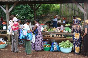 Samedi au marché de Coconi - Mayotte