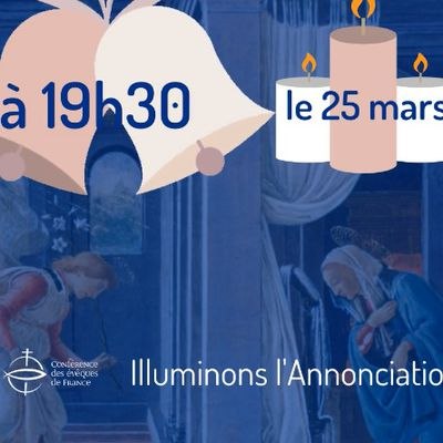 Le mercredi 25 mars, à 19h30 - Message des évêques de France
