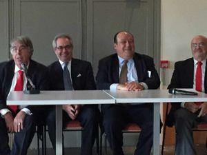 René Lota (GC-GLNF), Zavoche Houchangnia (GLNF), Philippe Guglielmi (GCG-GODF), Jean-Pierre Catala (GCG-GODF)