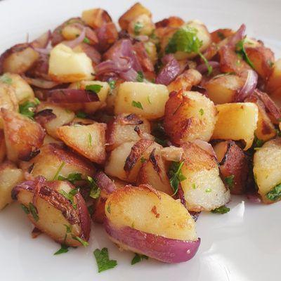 Pommes de terre sautées à la graisse de foie gras