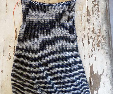 Rayures 1/1, et manches bouffantes et tricot vintage
