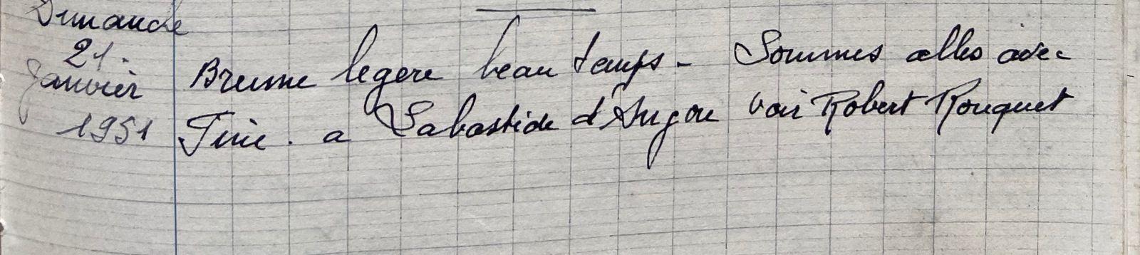 Dimanche 21 janvier 1951 - rendre visite au bébé