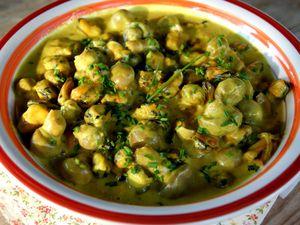 Fondue de moules au curry et miel