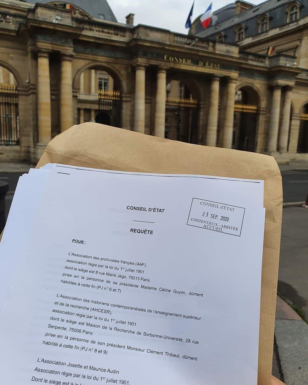 Archives inaccessibles: le texte de la requête déposée devant le Conseil d'Etat #archives #démocratie #IG1300 #SGDNSN