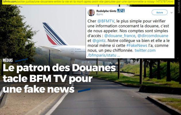 Le patron des Douanes tacle BFM TV pour une fake news #fakenews