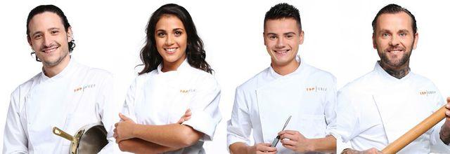 Les portraits des candidats de la saison 7 de Top Chef (Pierre, Sarah, Gabriel et Franck)