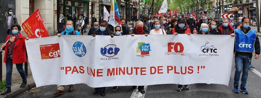 Tous en grève et dans la rue le 27 mai : Pas une minute de plus !