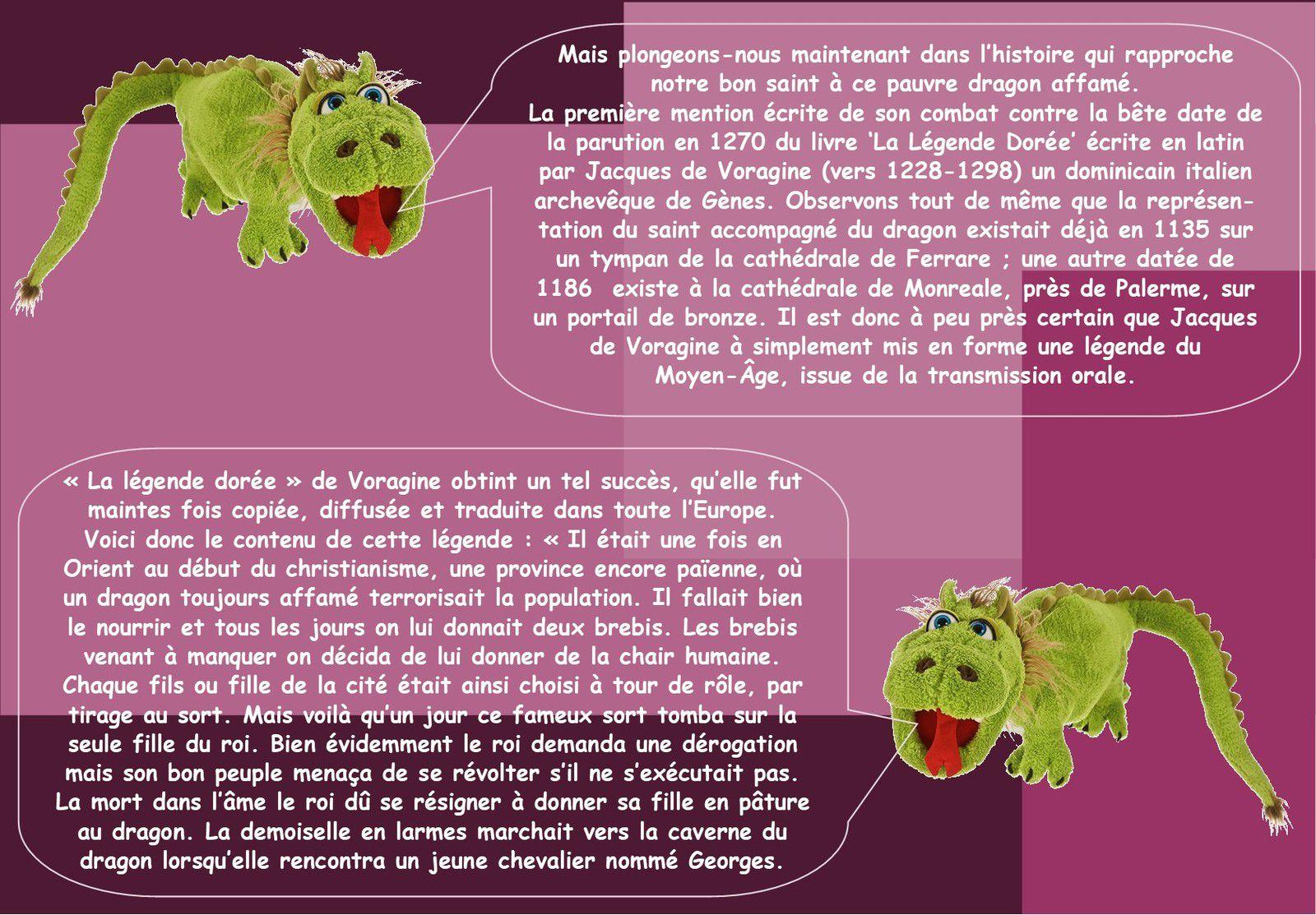 LA LEGENDE DE SAINT-GEORGES ET............DU DRAGON