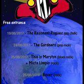 Le programme des concerts (SOIREES CERISES) du 24 août au 02 septembre 2017 inclus