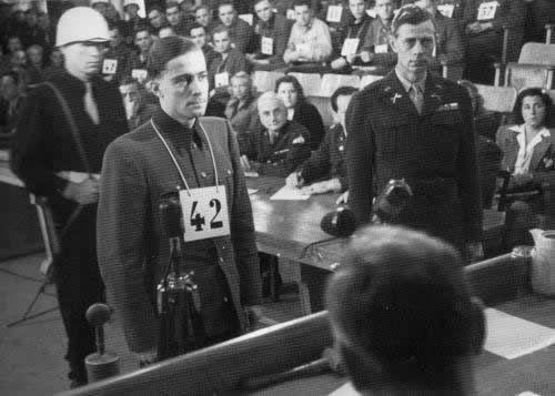 Joachim Peiper lors de son procès