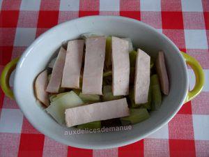 Cassolette de poireaux et poulet à la cancoillotte -LIGHT-