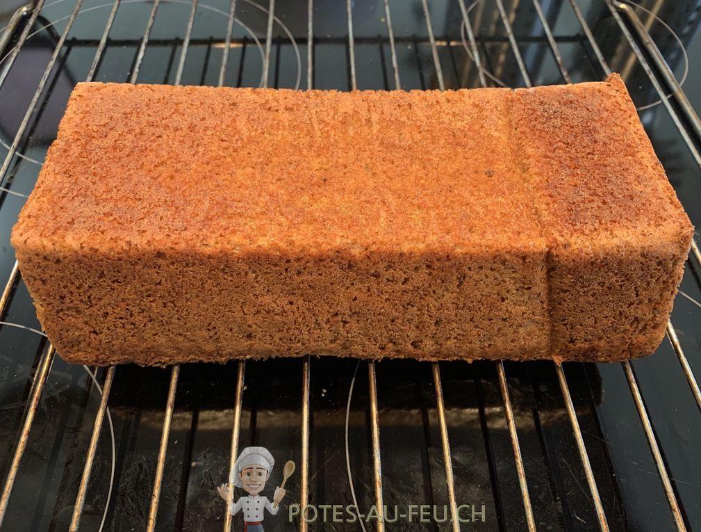 Cake Courge-Noisettes-Orange (sans gluten et sans lactose)