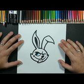 Como dibujar un conejo 🐰🐇 paso a paso 12   How to draw a rabbit 🐰 12