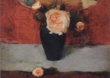 Ferdinand Khnopff - Roses et éventail japonais