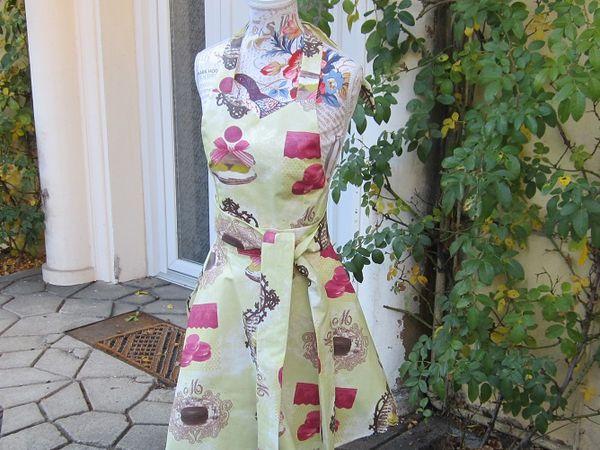 Francette confectionne des tabliers en tissus, toile cirée et toile enduite, des créations artisanales en pièce unique ou en petites séries.