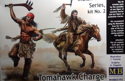 CHARGE AUX TOMAHAWKS - Figurines MB - 1/35 -