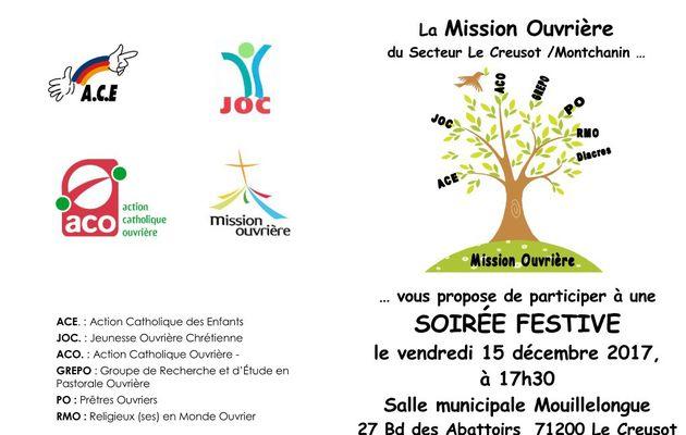 Retour sur la fête des 60 ans de la Mission Ouvrière sur le secteur Creusot / Montchanin le 15 décembre 2017