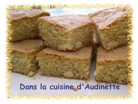 Blondies au chocolat blanc de Pascale Weeks