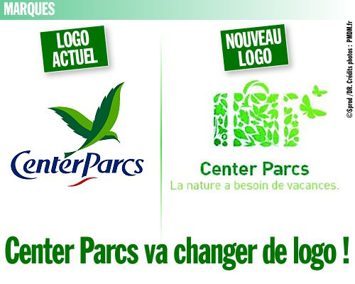 Center Parcs va changer de logo !