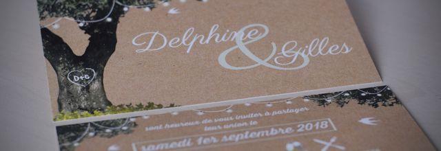 Le faire part de mariage de Delphine et Gilles ... guinguette et olivier