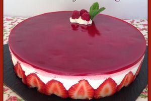 Dessert aux fruits rouges