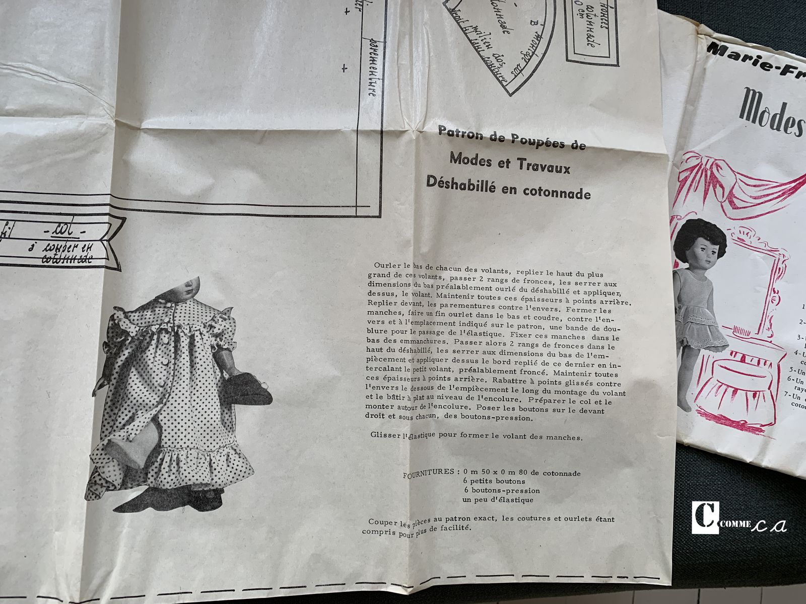 Modes & Travaux • Mars 1958