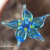 Lampwork glass beads / Glass jewels by PerlesFusion