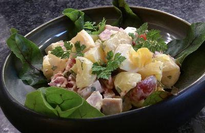 Salade piémontaise au saucisson à l'ail