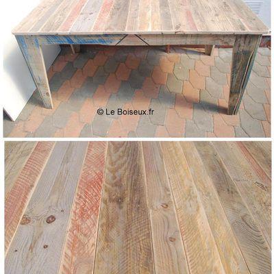 Table de salle à manger 100% bois recyclé