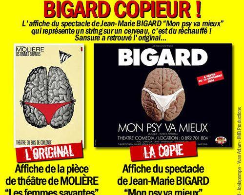 Bigard copieur !