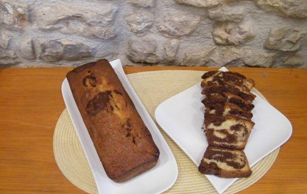 Gateau marbré vanille-chocolat