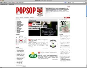 """WEBSITE FÜR VERPACKUNGS- UND MARKENDESIGN """"POPSOP.COM"""""""
