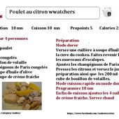 Fiche recette cookeo poulet au citron weight watchers |