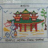 Carte brodée de Kyoto, de Mamigoz - Chez Mamigoz