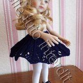 tuto gratuit poupée : jupe ajourée - Chez Laramicelle