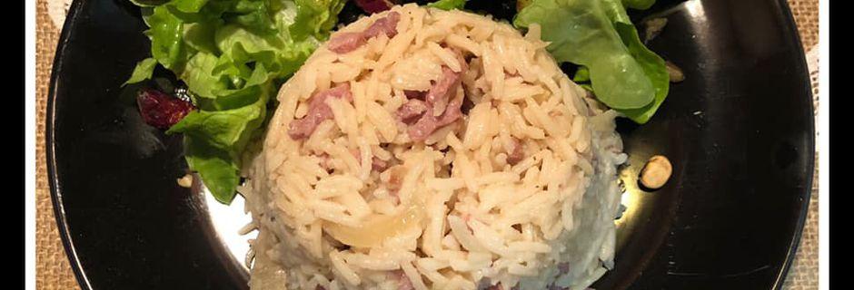 Riz basmati au bacon et sauce Yakitori