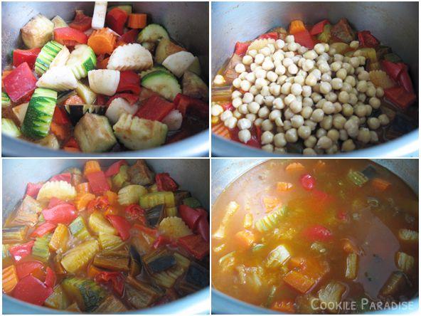 Couscous aux légumes & accompagné de ces merguez