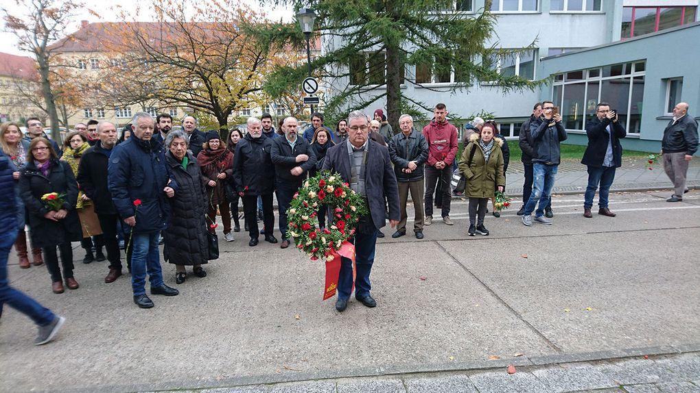 Une délégation du KKE a rendu hommage à Rosa Luxembourg et Karl Liebknecht à Berlin
