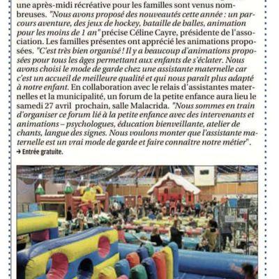 Article de La Provence sur notre Après-midi récréatif