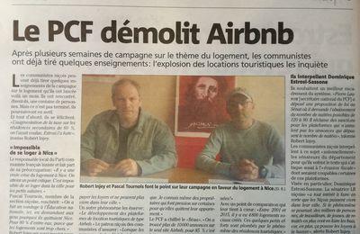 Le PCF démolit Airbnb