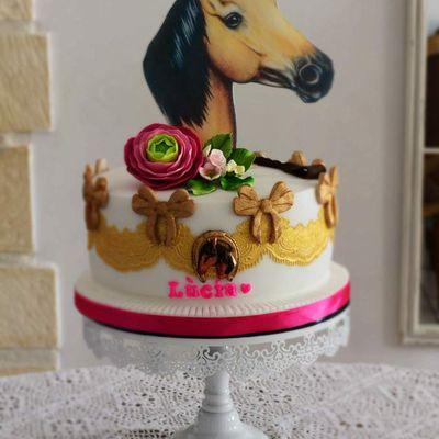 Gâteau thème cheval, équitation