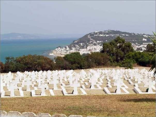 Le cimetière militaire français de Gammarth en Tunisie.