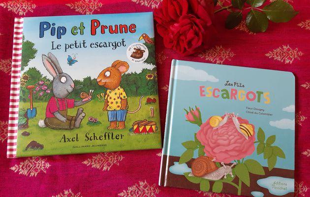 Deux livres sur les escargots