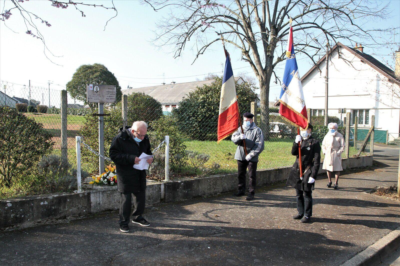 8.03.2021 Commémoration Pierre Semard-Journée internationale des droits des femmes.