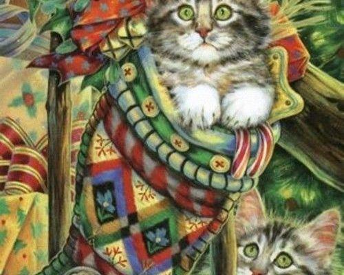 Magnifique tableau de chats...