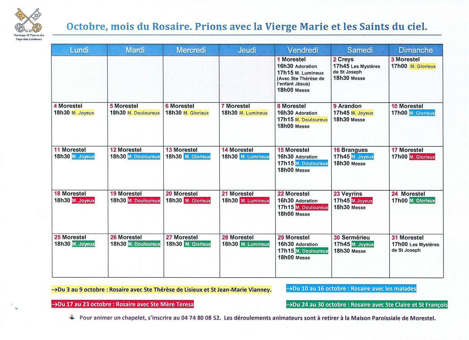 Octobre, mois du Rosaire