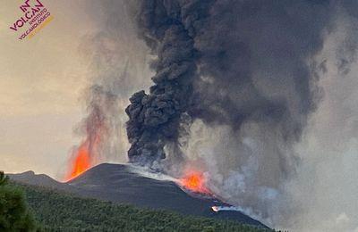 Actualité du Cumbre Vieja , de la Montagne Pelée, et du volcan de boue Shugo.