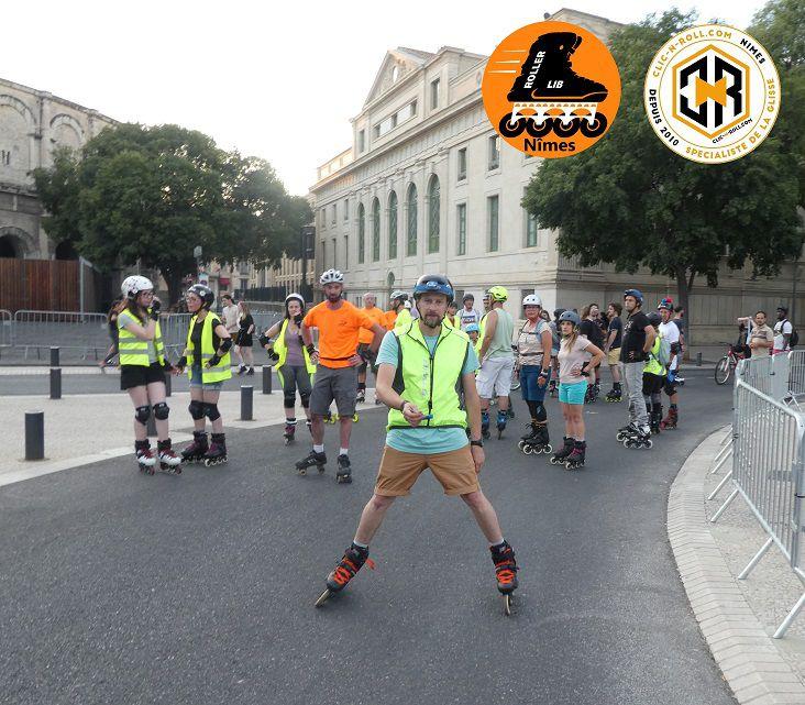 nimes, roller, lib, clic n roll, club, sport, plein air, stage, cours, plein air, patin