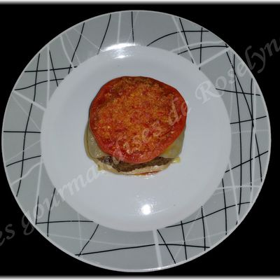 Burger tomates et sa croûte de chorizo