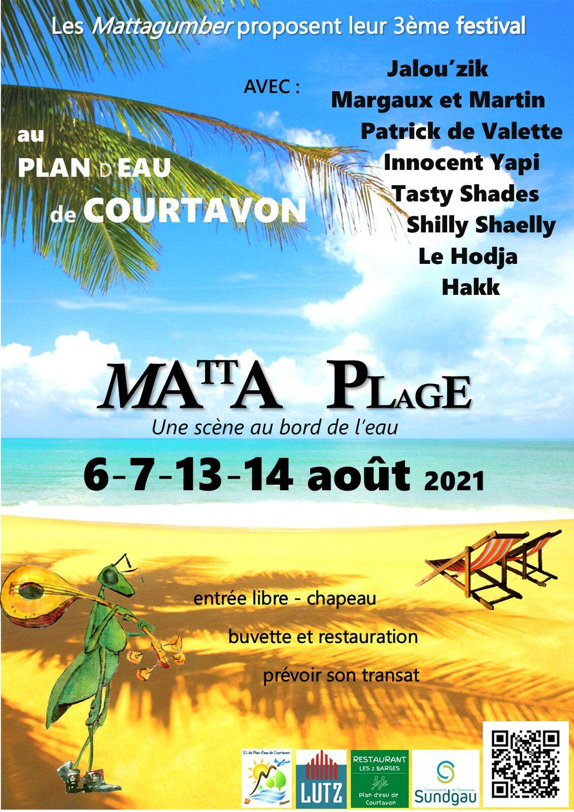 Matta Plage 2021 - Mattagumber - Plan d'eau de Courtavon